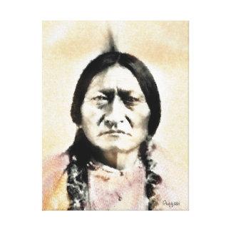 古いインディアンの酋長 キャンバスプリント