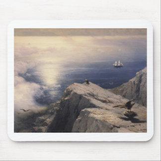 古いイヴァンAivazovskyのヴィンテージ水ボートの絵を描くこと マウスパッド