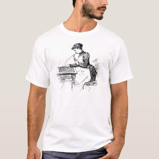 古いエアブラシを使用している女性 Tシャツ