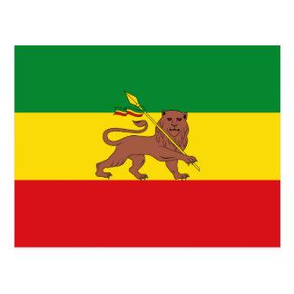 古いエチオピアの旗 ポストカード