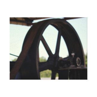 古いエンジン キャンバスプリント
