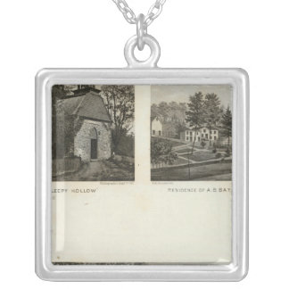古いオランダ教会、住宅 シルバープレートネックレス