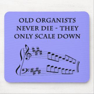 """""""古いオルガン奏者決してmousepad""""は死にません マウスパッド"""