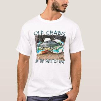 古いカニに最も甘い肉おもしろTシャツがあります Tシャツ