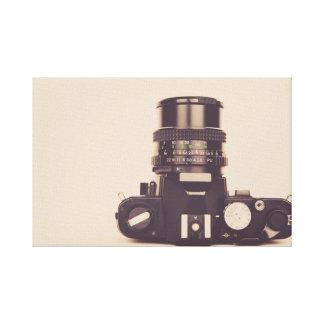 古いカメラのキャンバスプリント キャンバスプリント