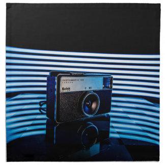 古いカメラ: モダンな照明 ナプキンクロス