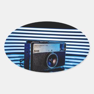古いカメラ: モダンな照明 楕円形シール