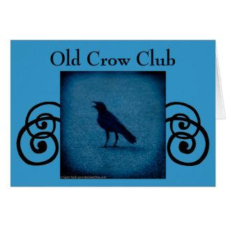 古いカラスクラブ招待または挨拶状 カード