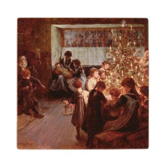 古いクリスマス ウッドコースター