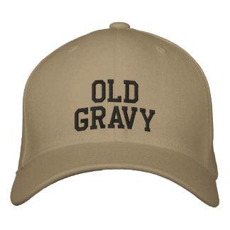 古いグレービーの帽子 刺繍入りキャップ