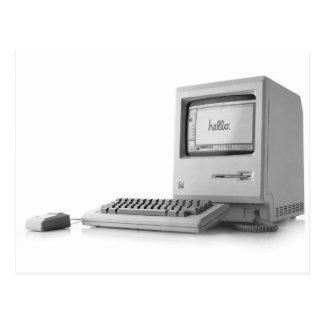 古いコンピュータ ポストカード