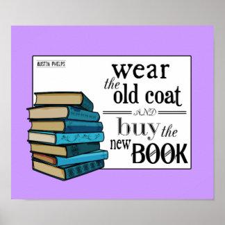 古いコートを身に着けて下さい。 引用文を予約して下さい ポスター