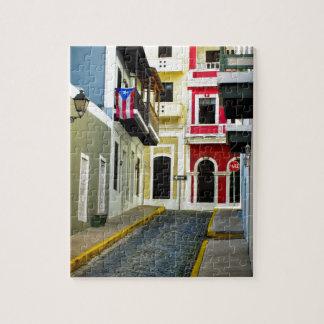 古いサンファンプエルトリコの色 ジグソーパズル
