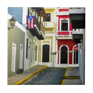 古いサンファンプエルトリコの色 タイル