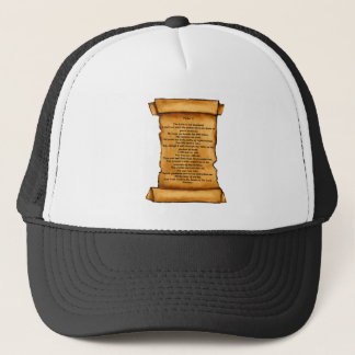 古いスクロールの賛美歌23: パステル調の芸術: 聖なる書物、経典 キャップ