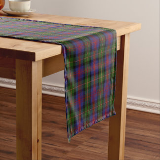 古いスコットランドの一族のローガンのタータンチェック格子縞 ショートテーブルランナー