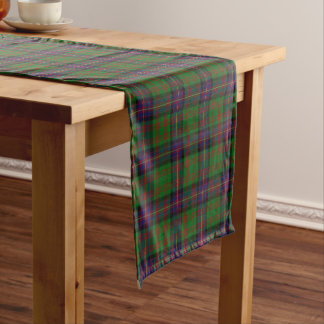 古いスコットランドの一族のCochraneコクランのタータンチェック格子縞 ショートテーブルランナー
