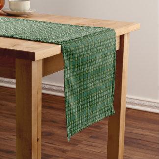 古いスコットランドの一族のCurrieのタータンチェック格子縞 ショートテーブルランナー