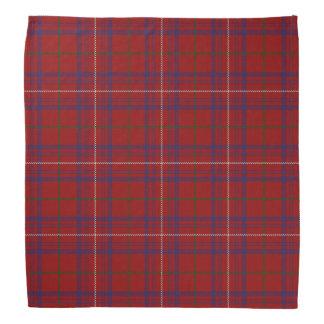 古いスコットランド人の一族のばら色のモダンで赤いタータンチェック格子縞 バンダナ