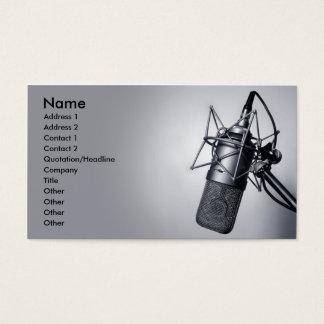 古いスタジオのマイクロフォン 名刺