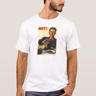 古いソビエトロシアのなプロパガンダの服装 Tシャツ