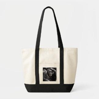 古いチンパンジーのバッグ-スタイル及び色を選んで下さい トートバッグ