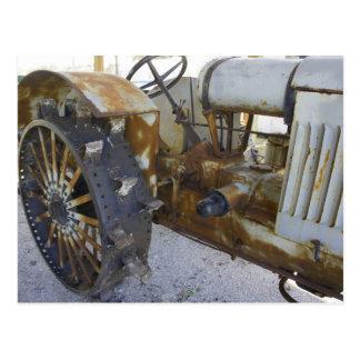 古いトラクター ポストカード