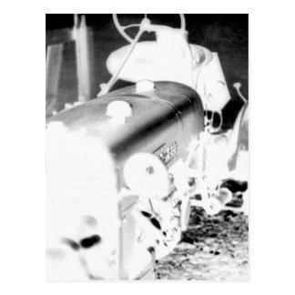 古いトラクター-陰性 ポストカード