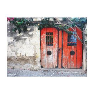 古いドア キャンバスプリント
