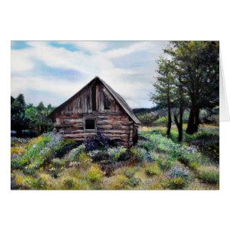 古いニューメキシコCasita/小屋/家/土地 カード