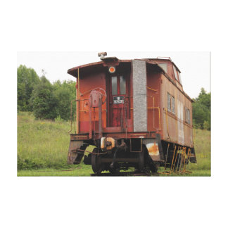 古いノーフォークおよび西部の鉄道の車掌車のキャンバス キャンバスプリント