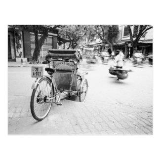 古いハノイでCycloハノイベトナム ポストカード