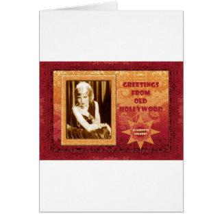 古いハリウッドからの挨拶: Claudette Colbert カード