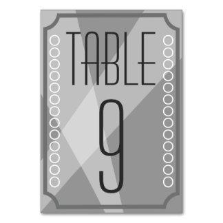 古いハリウッドのスタイルのテーブル数カード カード