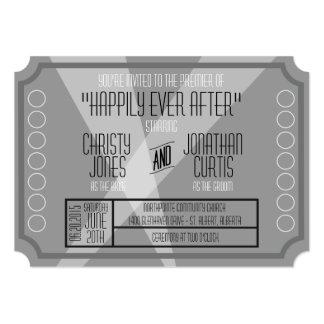 古いハリウッドのチケットのスタイルの招待状 カード