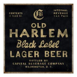 古いハーレムのラガービールのヴィンテージ広告ポスター ポスター