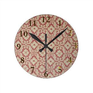 古いパターンaotearoaニュージーランド ラウンド壁時計