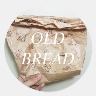 古いパンのステッカー ラウンドシール