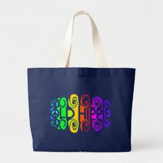 古いヒッピーのバッグ-スタイル及び色を選んで下さい ラージトートバッグ