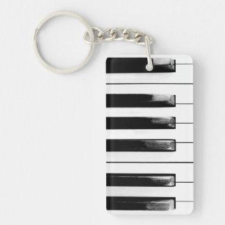 古いピアノ鍵 キーホルダー
