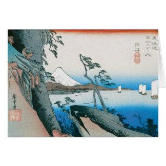 古いファッションの日本人の芸術 カード
