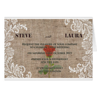 古いファッションの結婚式招待状 カード