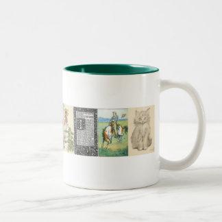 古いファッションの芸術のマグ ツートーンマグカップ