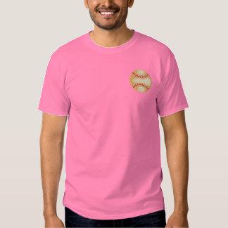 古いファッションの野球 刺繍入りTシャツ