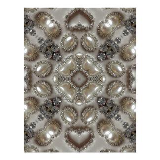 古いファッションの魅力のラインストーンの真珠のアール・デコ レターヘッド
