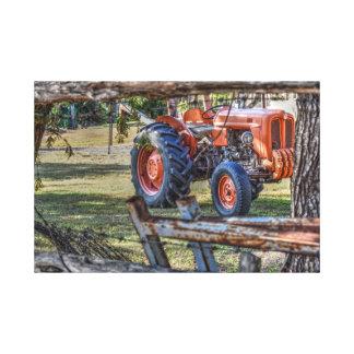古いフィアットのトラクタークイーンズランドオーストラリア芸術の効果 キャンバスプリント