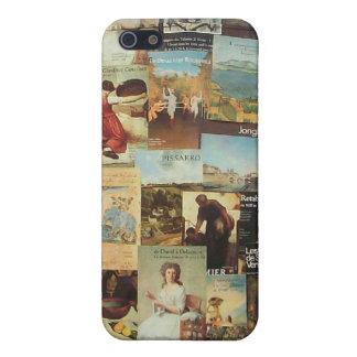 古いフランス人のパリ広告コラージュ iPhone 5 ケース