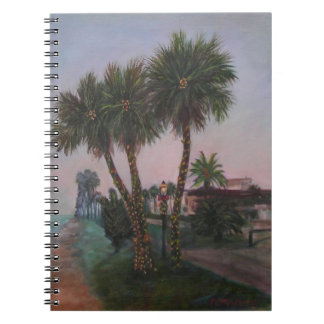 古いフロリダの写真のノートのクリスマス ノートブック