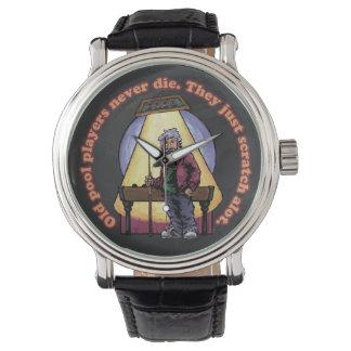 古いプールプレーヤー 腕時計