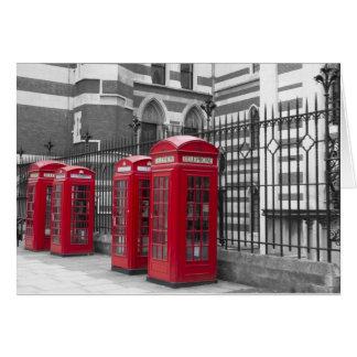 古いベイリーの法廷の赤い電話箱 カード